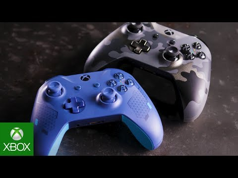 Unboxing Xbox Sport Blue And Night Ops Camo Special Edition Wireless Controllers [GAMESCOM SPECIAL]