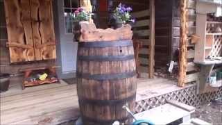The Backwoods Cabin. Episode 22. Rain Barrel. Flowers The Interior Boards Have Arrived.