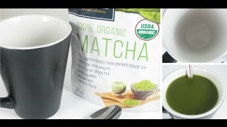 100 % ORGANIC ENZO MATCHA GREEN TEA REVIEW & TUTORIAL