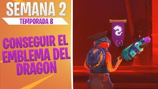 How to get the Dragon Emblem - Challenges Week 2 - Fortnite