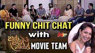 Jaya Janaki Nayaka Movie Team Special Chit Chat || Bellamkonda Sreenivas, Jagapati Babu