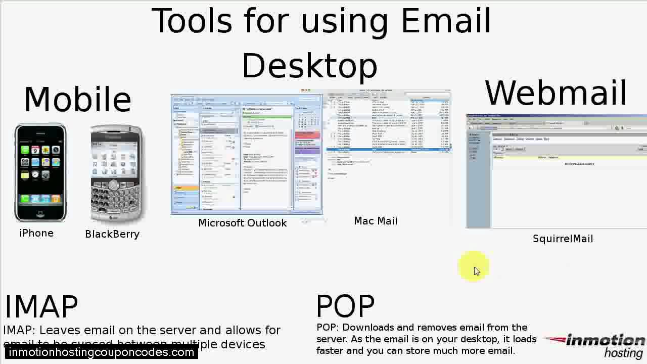 POP vs. IMAP - How to check your email - InMotion Hosting - YouTube