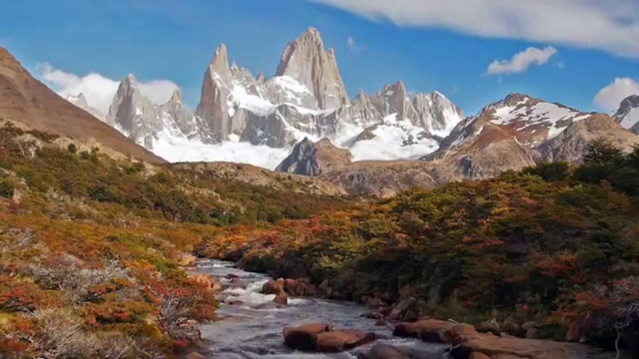 Fall Town Wallpaper Cerro Fitz Roy At El Chalt 233 N Argentina In Hd Youtube