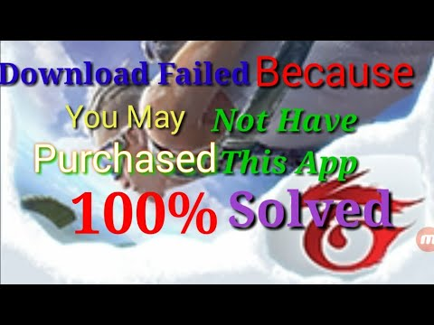 free fire you may not have purchased this app