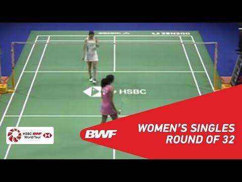 R32 | WS | Beiwen ZHANG (USA) vs Pusarla V. SINDHU (IND) [3] | BWF 2018