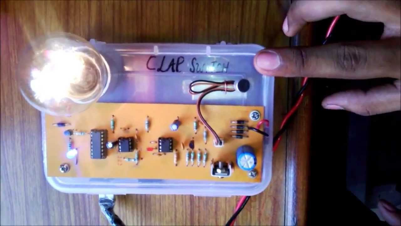 Clap Switch Circuit Electronic Project Using 555 Timer Technology Rain Detector With Alarm Mini Myclassbook