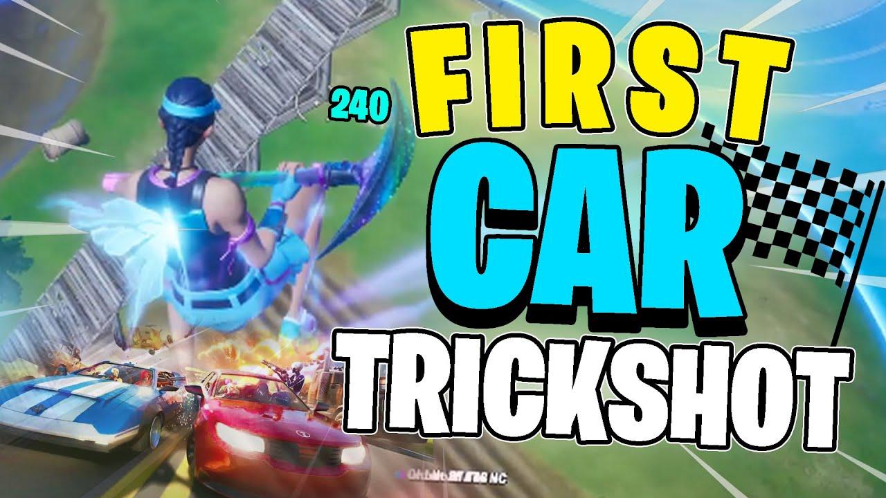 I hit the FIRST CAR TRICKSHOTS in Fortnite... (Road to a Trickshot)
