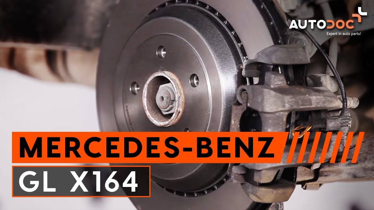 How to replace rear brake discs and brake pads MERCEDES-BENZ GL X164  TUTORIAL | AUTODOC