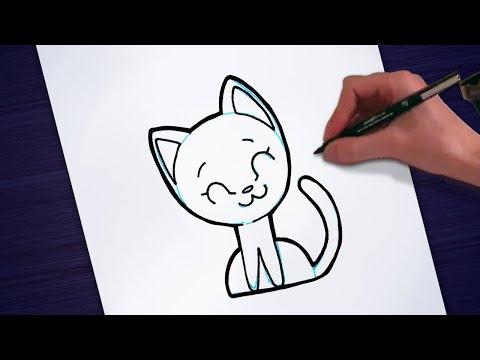 Desenhos Simples E Bonitos Desenhando Um Gato Passo A