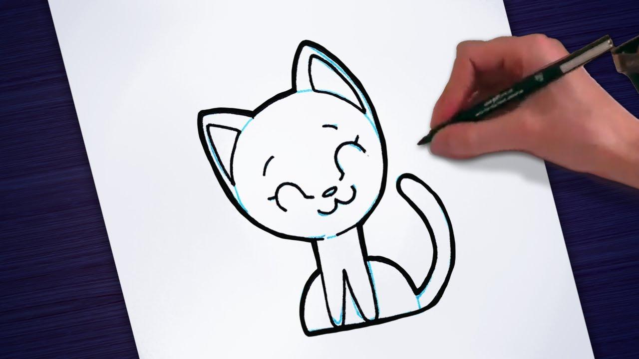 Desenhos Simples E Bonitos Desenhando Um Gato Passo A Passo