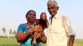Country Chicken Curry by my Grandma & Grandpa(నాటు కోడి కూర - కట్టెల పొయ్యి మీద)