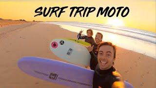 SURF TRIP EN MOTO, surf en mousse 🏍️🌊🌅