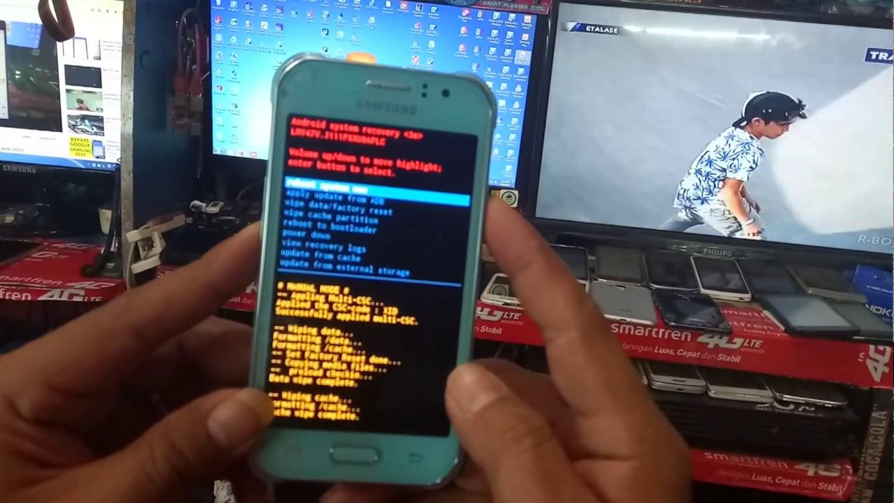 Cara Mudah Buka Kunci Pola Samsung J1 Ace Youtube