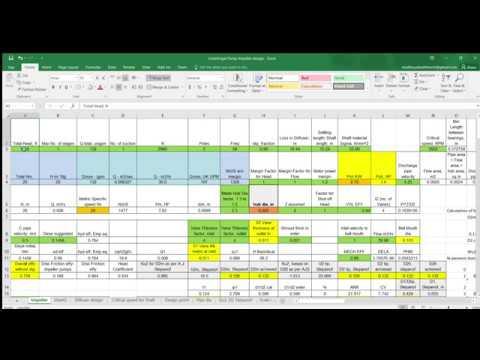 Centrifugal Pump Impeller design Excel