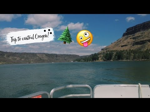 Trip to central Oregon! We rented a boat!