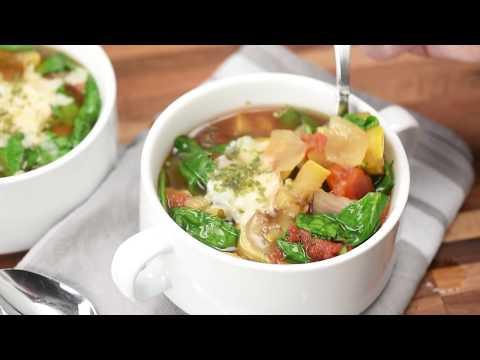 Crock Pot Vegetable Soup // Real Housemoms