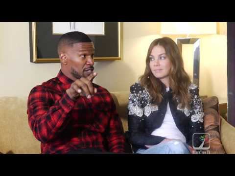 Jamie Foxx on Michelle Monaghan knocking his damn teeth out  SLEEPLESS MOVIE