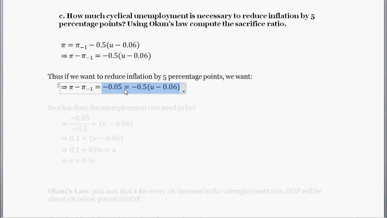 Macro Problem  TradeOff Between Inflation Unemployment and GDP  YouTube
