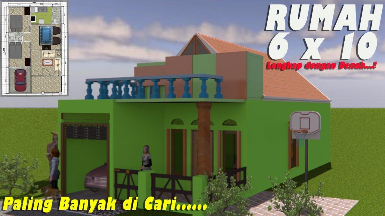 DESAIN RUMAH SEDERHANA 6x10 RUMAH COCOK DI DESA | RUMAH ...