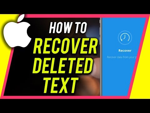 How do i recover deleted text messages on my iphone 8