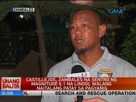 UB: Castillejos, Zambales na sentro ng magnitude 6.1 na lindol walang naitalang patay sa pagyanig