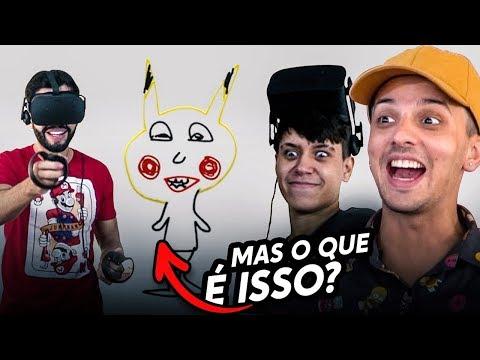 FIZEMOS DESENHOS INCRÍVEIS - DESAFIO NA REALIDADE VIRTUAL!!!