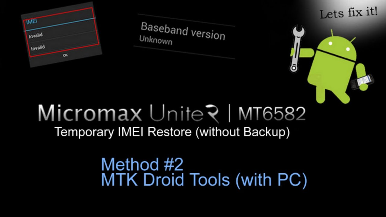Guide] [How to] Repair IMEI Invalid   NV RA…   Micromax A106