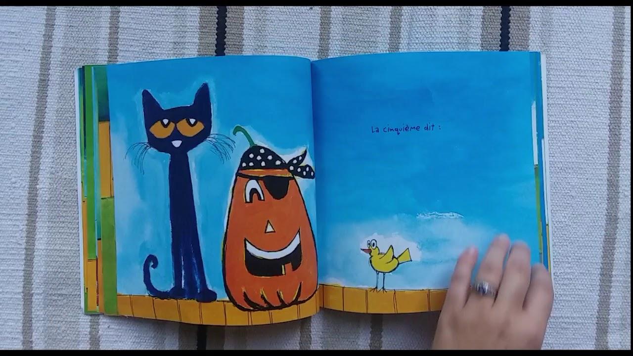 Cinq petites citrouilles Pat le chat
