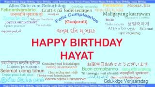 Hayat   Languages Idiomas - Happy Birthday