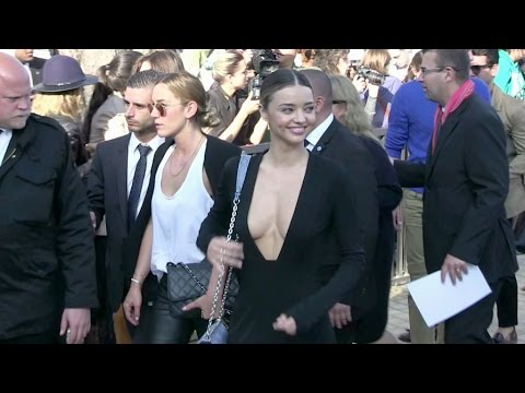 Stunning Miranda Kerr attend the Louis Vuitton Fashion Show