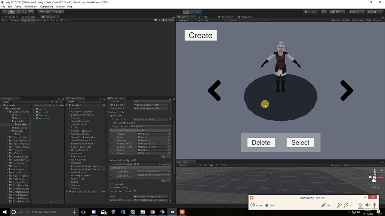 uMMORPG Char Creation working