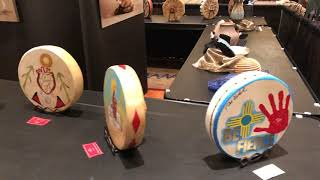 Special Honoring Missing & Murdered Indigenous Women Drums - Santa Fe Indian Markt 2019