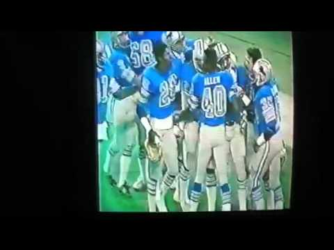 Billy Sims screen TD @ Chicago Thanksgiving