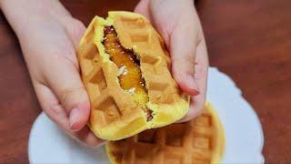 와플기계로 바삭한 꿀호떡 와플 만들기  맛있겠지!? |…
