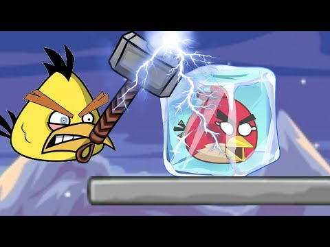Rescue Angry Birds - FREEZE RED ANGRY BIRDS NEED RAIN WATER!!