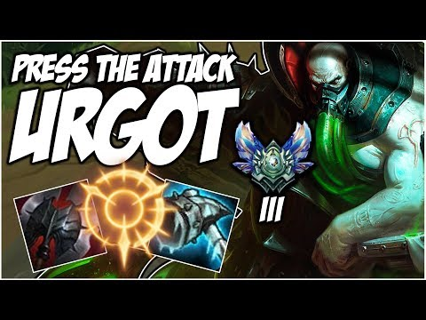 DIAMOND 3 PROMO ON PRESS THE ATTACK URGOT | League of Legends