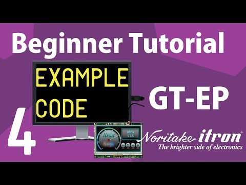 Noritake GT-EP Beginner Tutorial: Part 4 | Example Code Explanation