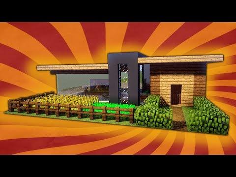 Minecraft modern villa timelapse doovi for Craftingpat modernes redstone haus