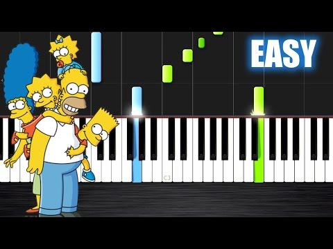 The Simpsons Theme - EASY Piano Tutorial by PlutaX - Synthesia