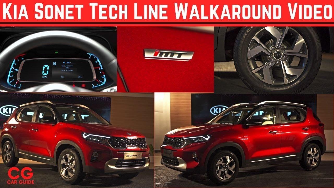 Kia Sonet Walkaround Tech Line Ht Variants Interior Design Price Kia Sonet Full Review Soon Youtube