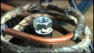 Инструментальный цех Опыты пайка стали железа 1.1(Решил попрактиковаться в пайке. Спаяли четыре заготовки из стали 1018 с простой гаечкой на 5/16 дюйма (примерно..., 2012-05-27T23:10:11.000Z)