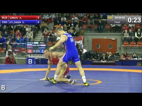 GOLD GR - 66 kg: Artem SURKOV (RUS) df. Dominik ETLINGER (CRO), 4-0