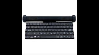GLE2016 Foldable Rollable BT Keyboard & BT Speaker