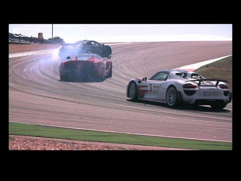 Chris Harris on Cars - LaFerrari v Porsche 918 v McLaren P1 at Portimao.
