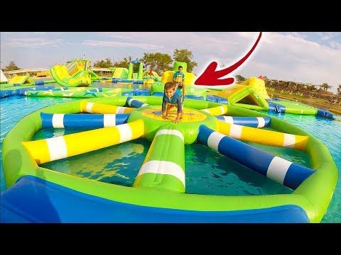 PARC AQUATIQUE GONFLABLE AQUAPARK - Water Park 100% Fun !