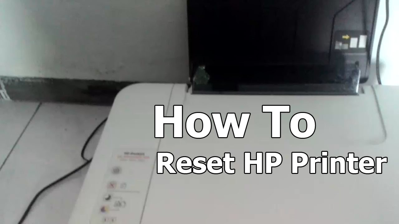 How to Reset HP Printer 1515 and Most Models  YouTube
