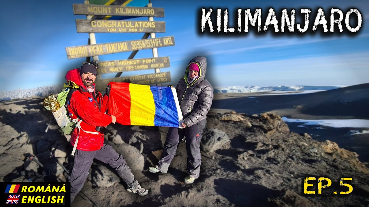 Steagul României pe Kilimanjaro! (Ep. 5 - Barafu 4650 - Uhuru 5895- Mweka 3100m) Romana/English