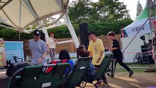 2018 쇠부리축제 디제이공연 비보이와 세 소녀 객석 …
