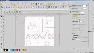 Обучение работе в программе ArtCAM 2011 Pro Видеоурок №3 часть 3 Компоновка векторов