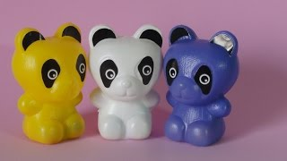 THREE  LITTLE BEARS TRES URSINHOS MUITO FOFOS little colorful plastic toys